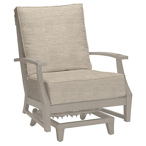 Croquet Spring Club Chair, Dove Sunbrella