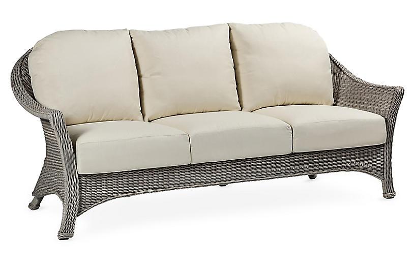 Regent Sofa, Dove Sunbrella