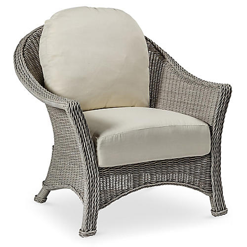 Regent Club Chair, Dove Sunbrella