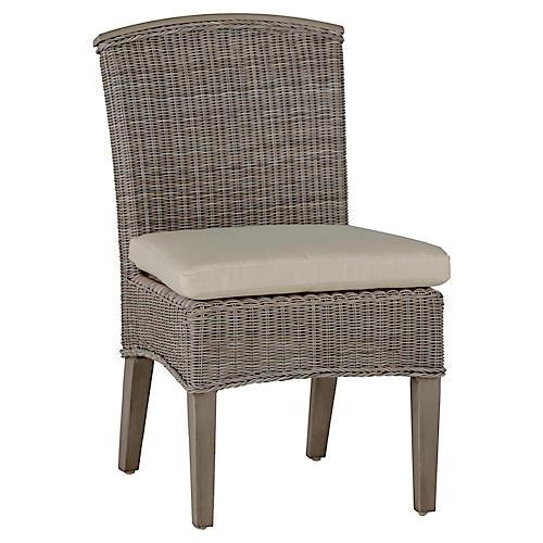 Astoria Side Chair, Dove Sunbrella
