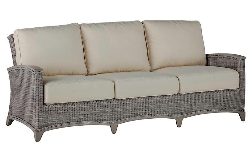 Astoria Sofa, Dove Sunbrella