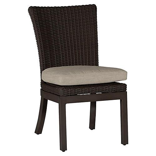 Rustic Side Chair, Dove Sunbrella