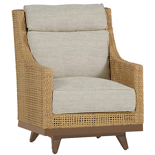 Peninsula Spring Club Chair, Dove Sunbrella