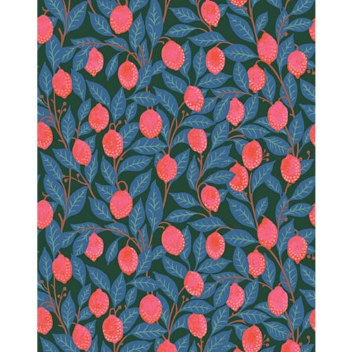 Lemons Wallpaper, Peacock
