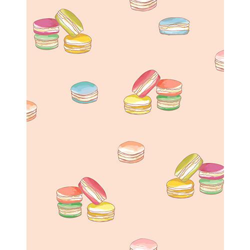 Macaroons Wallpaper, Peach