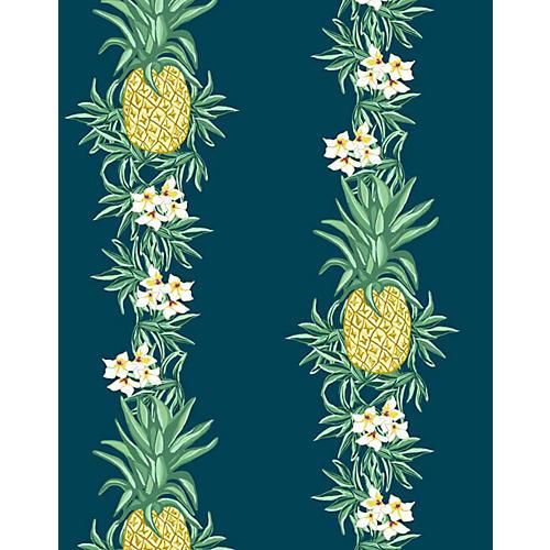 Pineapple Express Wallpaper, Indigo