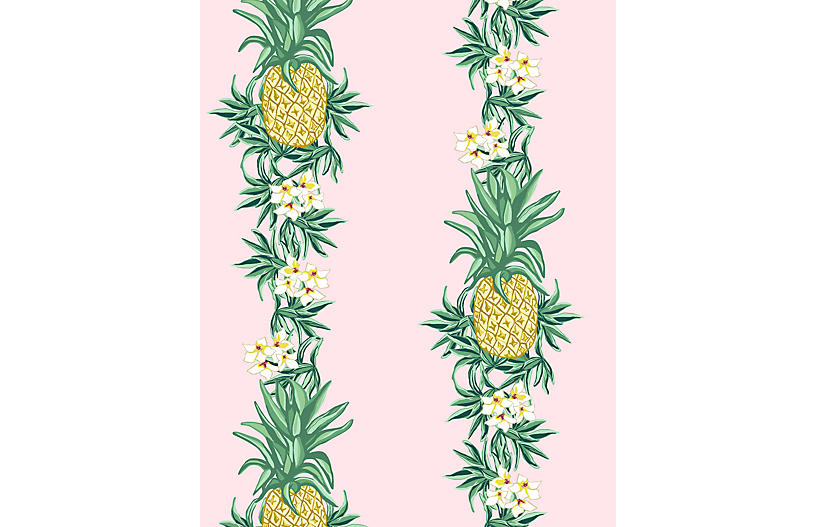Pineapple Express Wallpaper, Pink