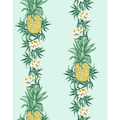 Pineapple Express Wallpaper, Robin's-Egg Blue