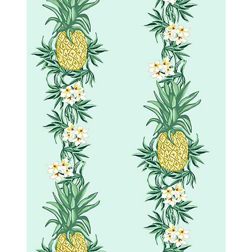Pineapple Express Wallpaper, Robin's-Egg Blue