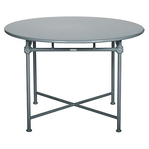 1800 Round Outdoor Dining Table, Blue