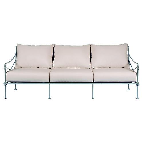 1800 Outdoor Sofa, White Sunbrella