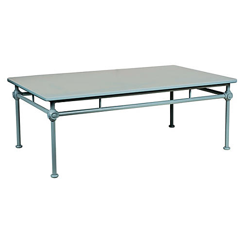 1800 Outdoor Coffee Table, Blue