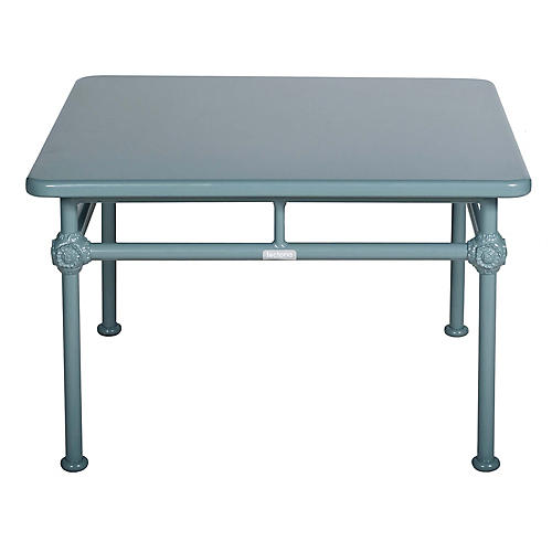 1800 Square Outdoor Coffee Table, Blue