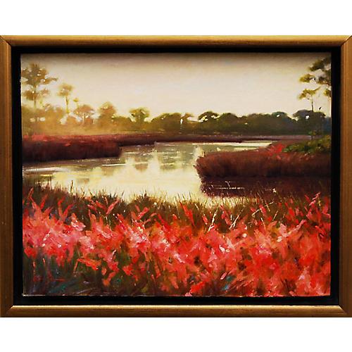 Lisa Gleim, Muhly Grass at Sunset