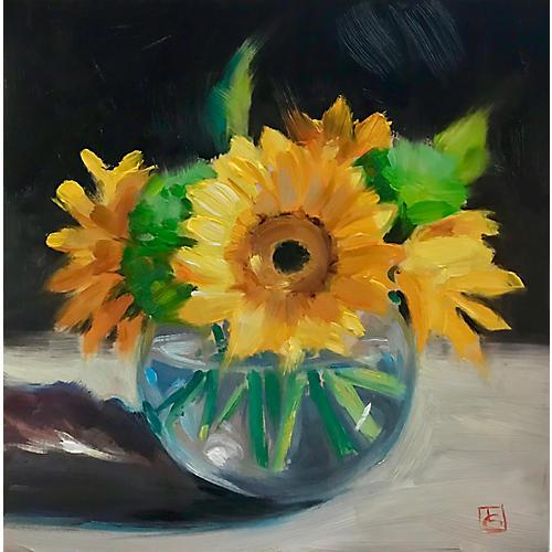 Lisa Gleim, Yellow Gerberas
