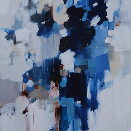 Michele James, Blue & Brown