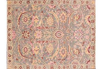Pink floral wool rug one kings lane apadana fine rugs mightylinksfo