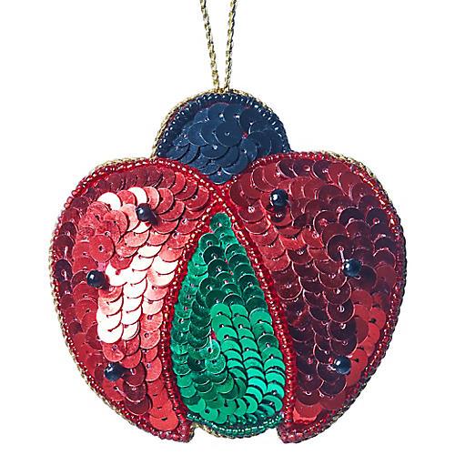 Ladybug Beaded Ornament, Red/Multi