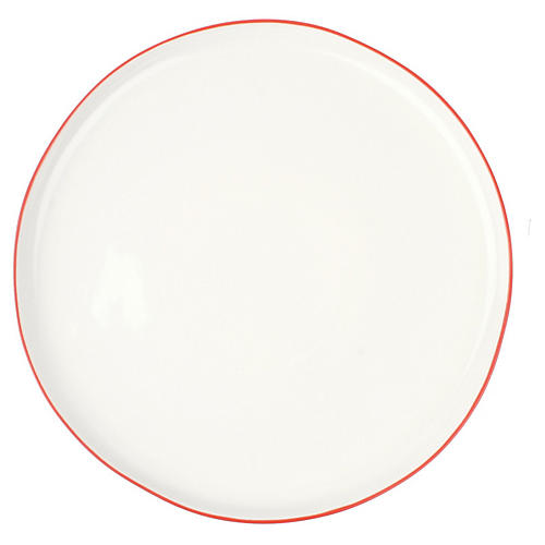S/4 Abbesses Serving Plates, Red