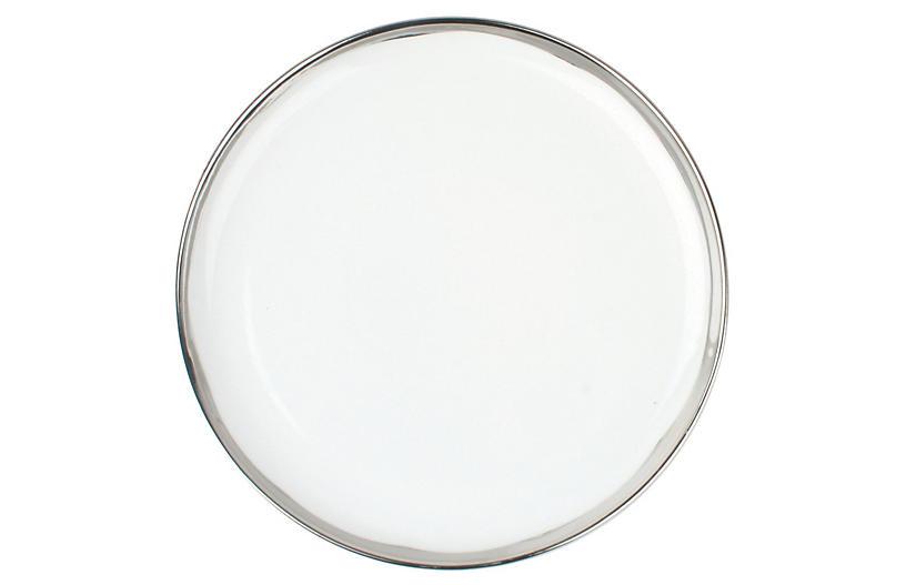 S/4 Dauville Dinner Plates, Platinum