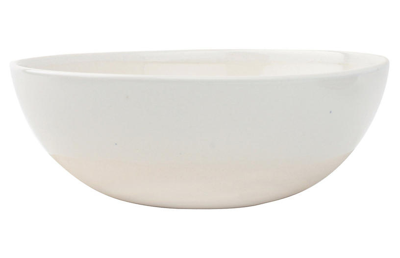 S/4 Shell Cereal Bowls, White