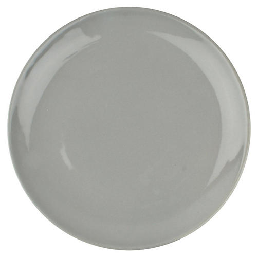 S/4 Shell Bisque Salad Plates, Gray