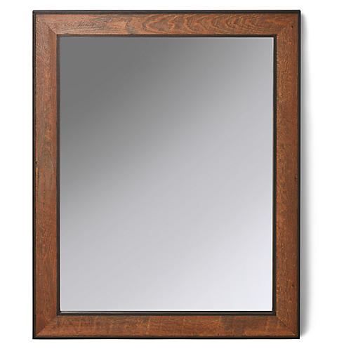 Lowell Mirror, Pecan/Black