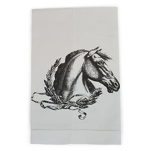 Horse Guest Towel, White/Multi