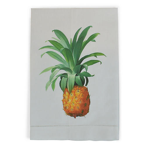 Pineapple Guest Towel, White/Multi