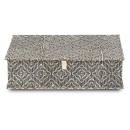 Deco Decorative Box, Black/White