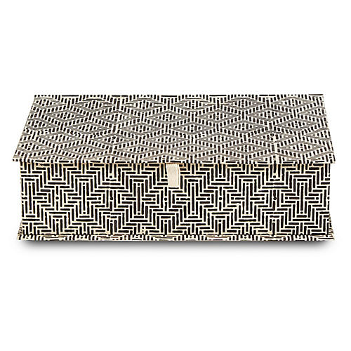 Deco Decorative Box, Black/White