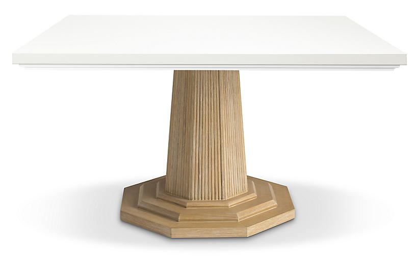 Georgica Dining Table, White