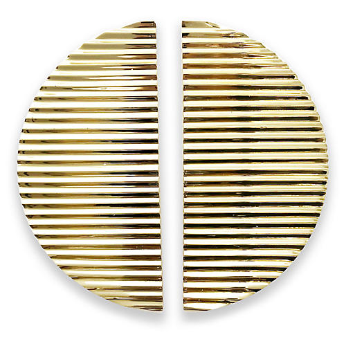 S/2 Allen Semi-Circular Pulls, Brass