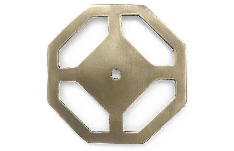 Olsen Backplate, Antiqued Brass