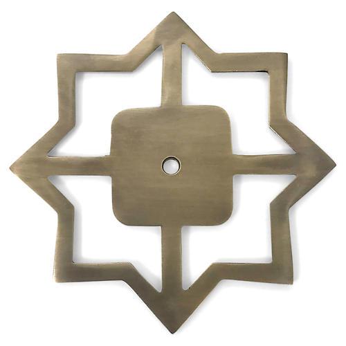 Woodard Backplate, Antiqued Brass