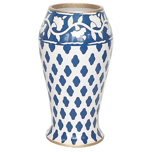"""10"""" Farm Vase, Navy"""