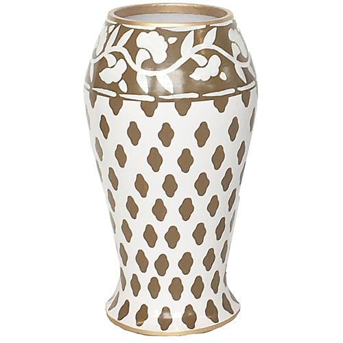 """10"""" Farm Vase, Brown"""