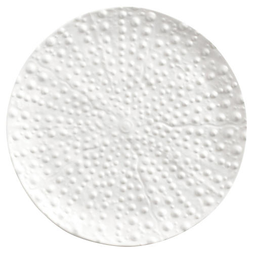 Sea Urchin Melamine Dessert Plate, White