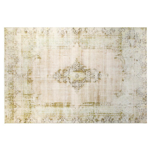 "9'6""x12'6"" Ethan Hand-Knotted Rug, Lime"