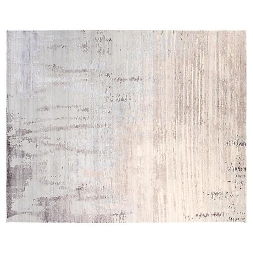 8'x10' Velvet Hand-Knotted Rug, Gray/Multi