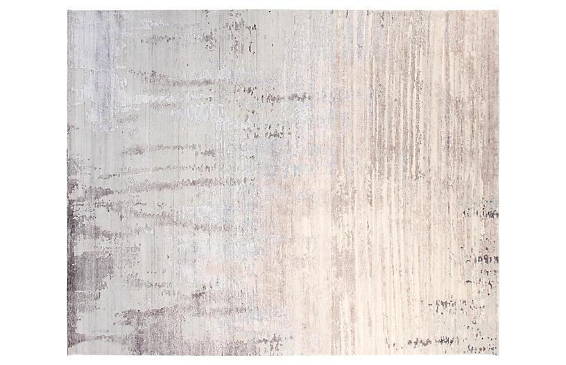 8'x10' Velvet Hand-Knotted Rug - Gray - F.J. Kashanian