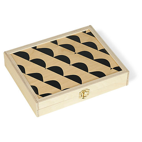 Curves Backgammon Set, Natural/Black