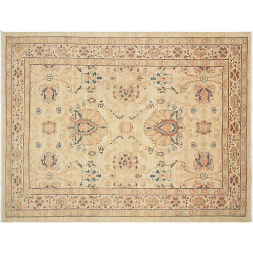 """5'5""""x7'2"""" Persian Sultanabad Rug, Ivory"""