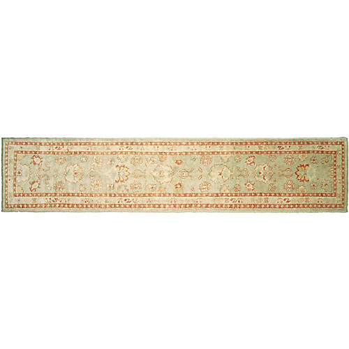 "2'11""x13'11"" Oushak Runner, Green"