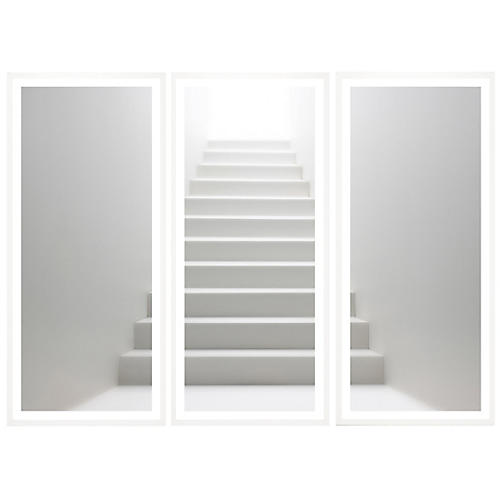 White Stairs Triptych