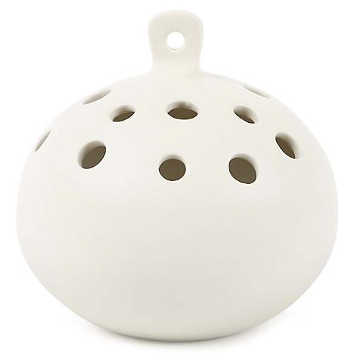 "5"" Standing Stems Hanging Vase, Matte White"