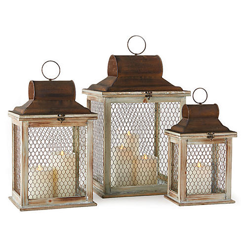 Asst. of 3 Timberlane Outdoor Lanterns, Natural