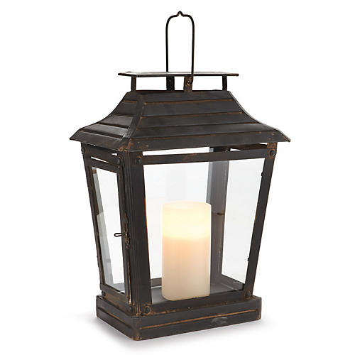 "21"" Toulouse Outdoor Lantern, Antiqued Black"