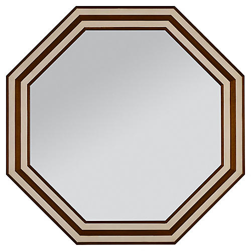 Bryant Wall Mirror, Walnut/Ivory