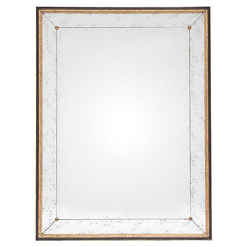 Fillmore Oversize Mirror, Gold/Black